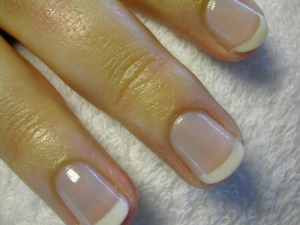 french manicure : ($26 worth) art manicure with the tips painted in different color. usually for people who likes neutral looks, looking like your natural nail.