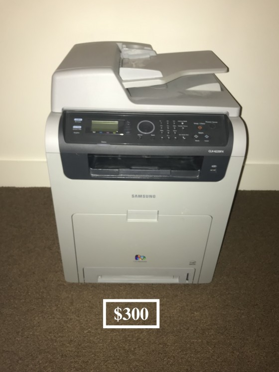 삼성 레이저 칼라 프린터 Color Laser Printer/Scanner (Samsung CLX-6220FX). Like-new condition.